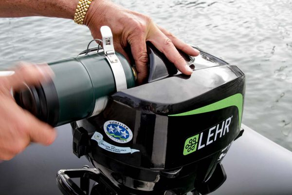 LEHR 5.0hp Propane Powered Outboard Short Shaft