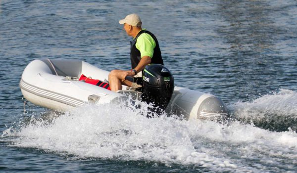 LEHR 9.9hp Propane Powered Outboard